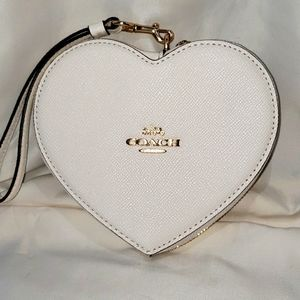 Coach heart wallet